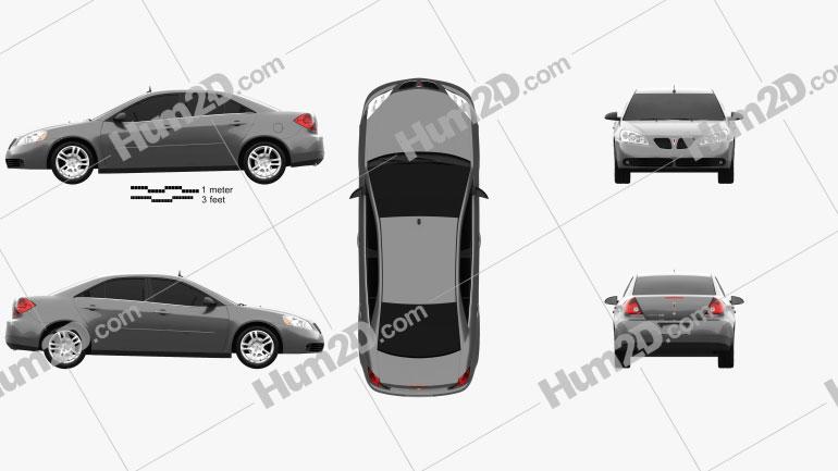 Pontiac G6 V6 2006 car clipart