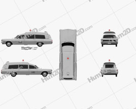 Pontiac Bonneville Station Wagon Ambulance Kennedy 1963 car clipart