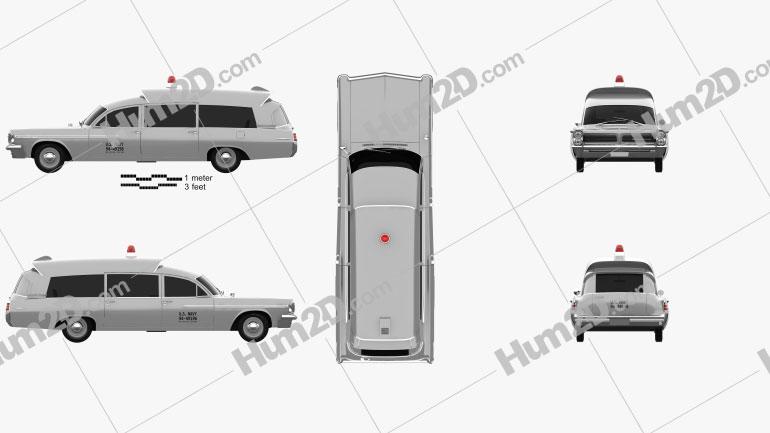 Pontiac Bonneville Station Wagon Ambulância Kennedy 1963 car clipart
