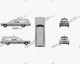 Pontiac Bonneville Station Wagon Krankenwagen Kennedy mit HD Innenraum 1963 car clipart