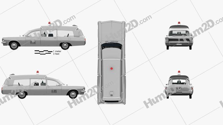 Pontiac Bonneville Station Wagon Ambulance Kennedy with HQ interior 1963 car clipart