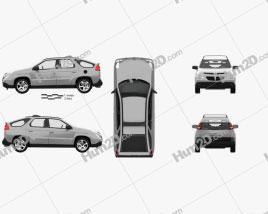 Pontiac Aztek with HQ interior 2005 car clipart