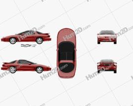 Pontiac Firebird Trans Am 1998 car clipart
