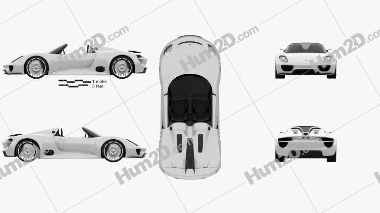 Porsche 918 spyder 2011 Clipart Image