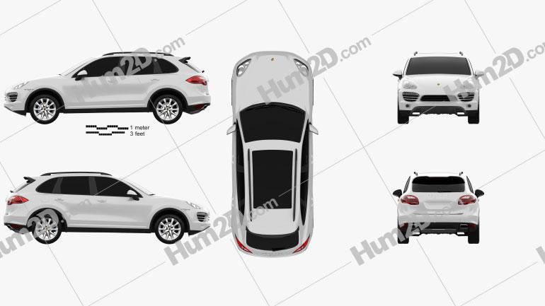 Porsche Cayenne Hybrid 2011 car clipart