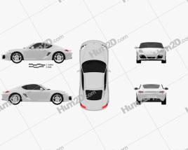 Porsche Cayman S 2011 car clipart
