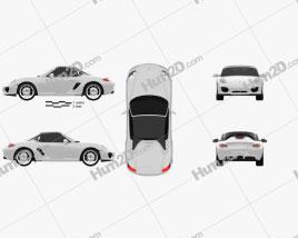 Porsche Boxster Spyder 2011 car clipart