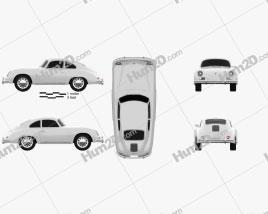 Porsche 356A coupe 1959 Clipart
