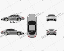 Porsche 911 Carrera Coupe 2011 car clipart