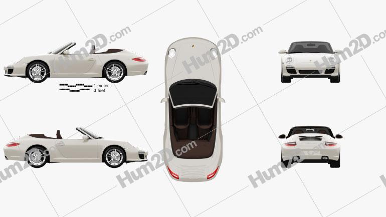 Porsche 911 Carrera Cabriolet 2011 car clipart