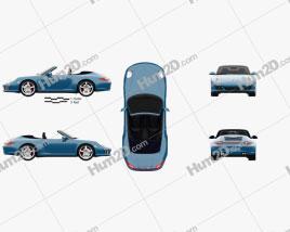 Porsche 911 Carrera 4S Cabriolet 2011 car clipart