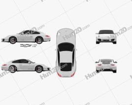 Porsche 911 Carrera GTS Coupe 2011 car clipart