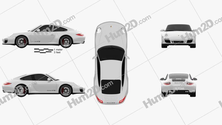 Porsche 911 Carrera GTS Coupe 2011 Clipart Image