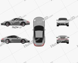 Porsche 911 Carrera 4GTS Coupe 2011 car clipart