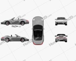 Porsche 911 Carrera 4GTS Cabriolet 2011 car clipart