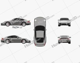 Porsche 911 Turbo Coupe 2011 car clipart