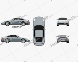 Porsche 911 Turbo S Coupe 2011 car clipart