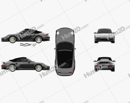 Porsche 911 Turbo S Cabriolet 2011 car clipart