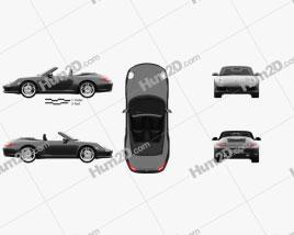 Porsche 911 Carrera Black Edition Cabriolet 2011 car clipart