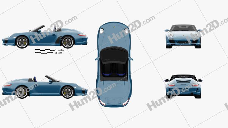 Porsche 911 Speedster 2011 car clipart