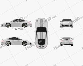 Porsche 911 Sport Classic 2011 car clipart