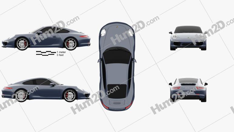 Porsche 911 Carrera S Coupe 2012 car clipart