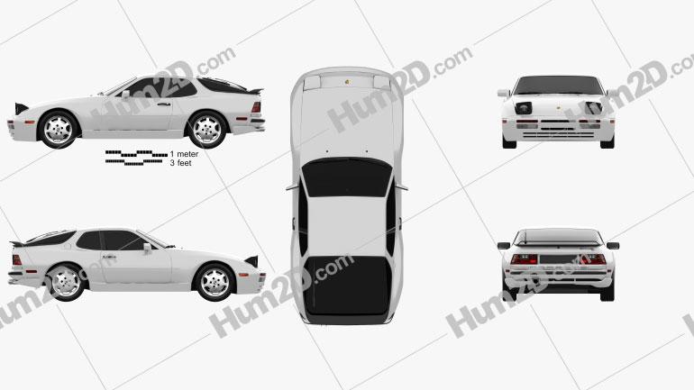 Porsche 944 coupe 1991 Clipart Image