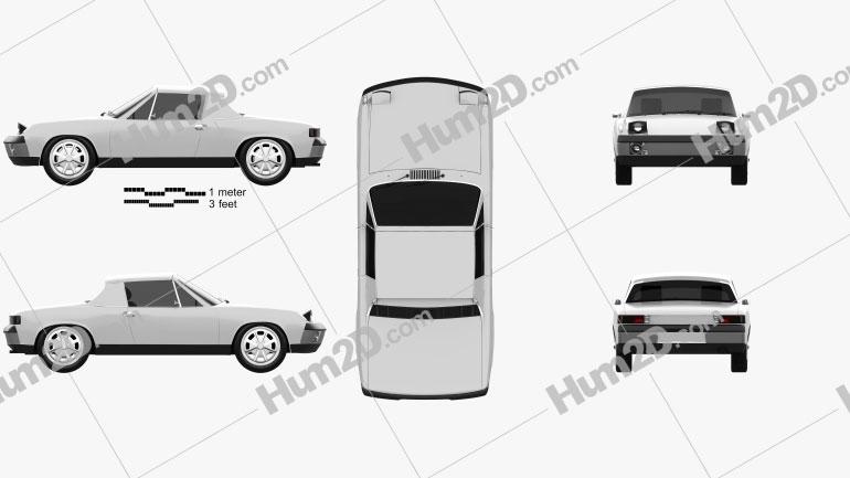 Porsche 914 1972 Clipart Image