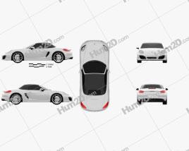 Porsche Boxster 981 2013 Clipart