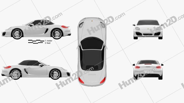 Porsche Boxster 981 2013 car clipart