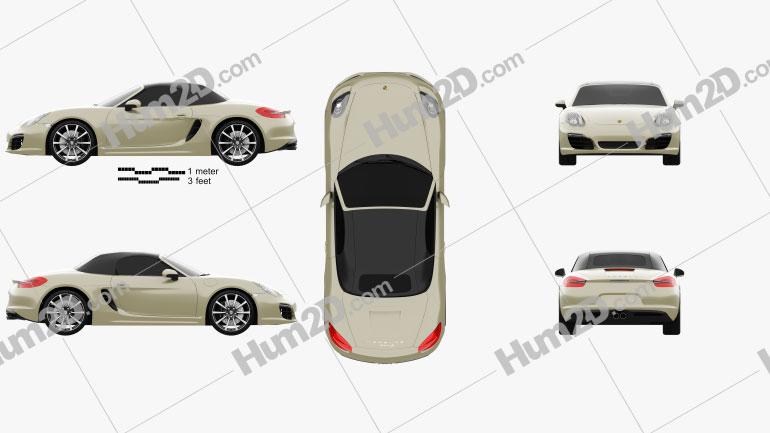 Porsche Boxster S 981 2013 car clipart