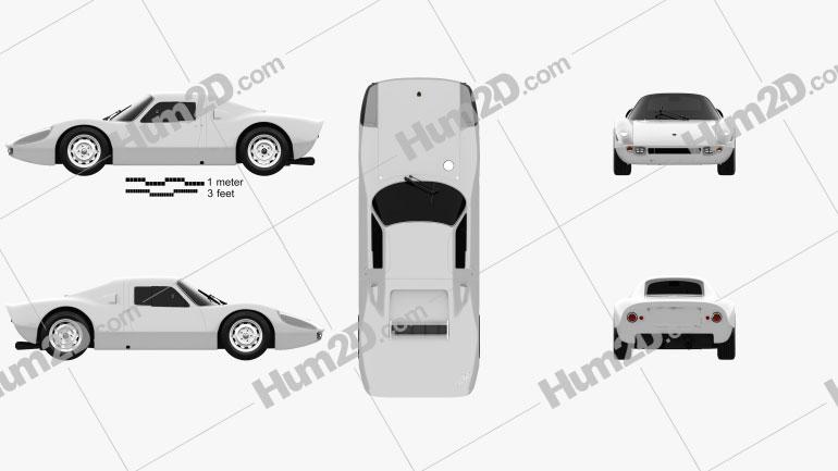 Porsche 904 1964 Clipart Image