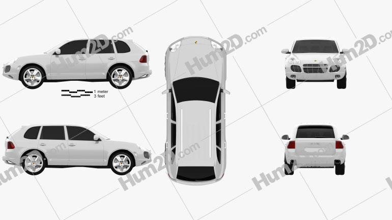 Porsche Cayenne S 2003 car clipart