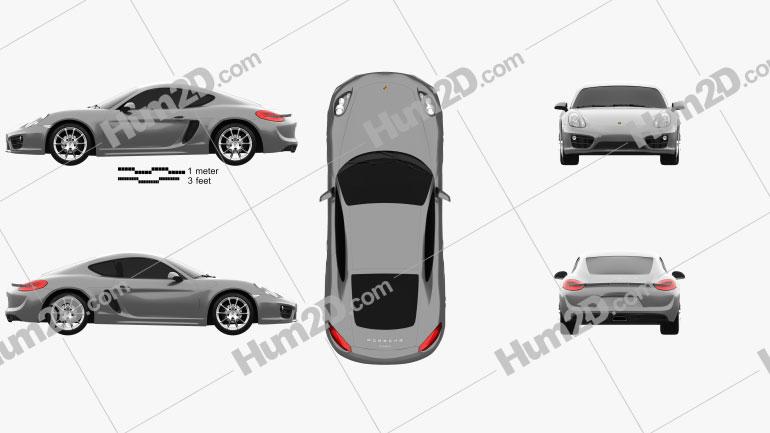 Porsche Cayman 2013 Clipart Image