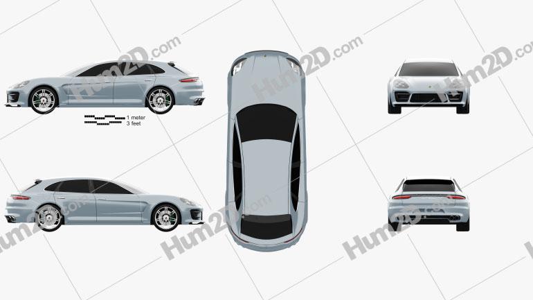 Porsche Panamera Sport Turismo 2012 car clipart