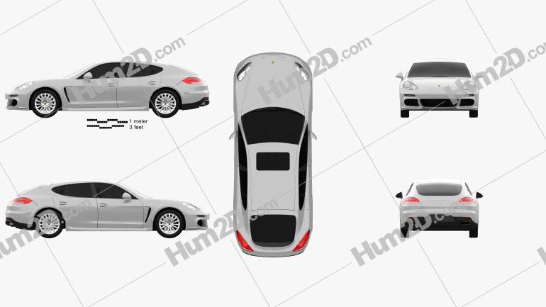 Porsche Panamera S 2014 car clipart