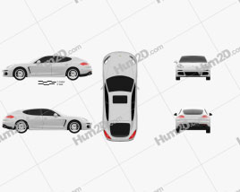 Porsche Panamera S E-Hybrid 2014 car clipart