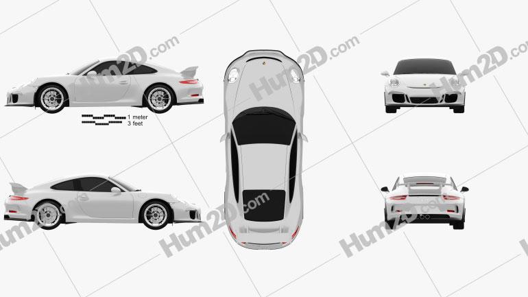 Porsche 911 (991) Carrera GTR3 2013 car clipart