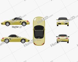 Porsche Boxster 986 1996 car clipart