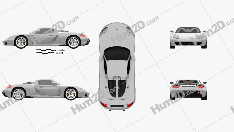 Porsche Carrera GT (980) 2004 Clipart Image