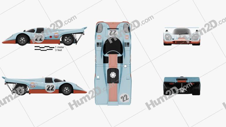 Porsche 917 K 1969 Clipart Image