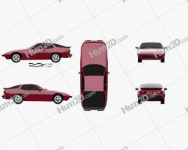 Porsche 924 1976 Clipart
