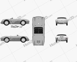 Porsche 550 spyder 1953 car clipart
