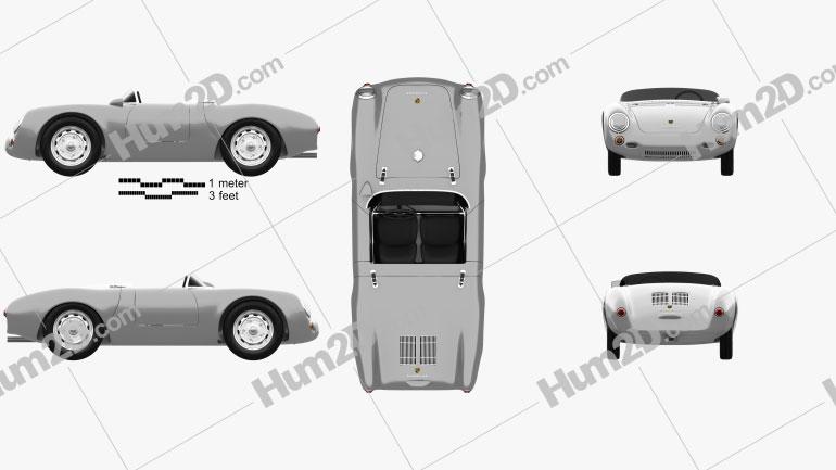 Porsche 550 spyder 1953 Clipart Image