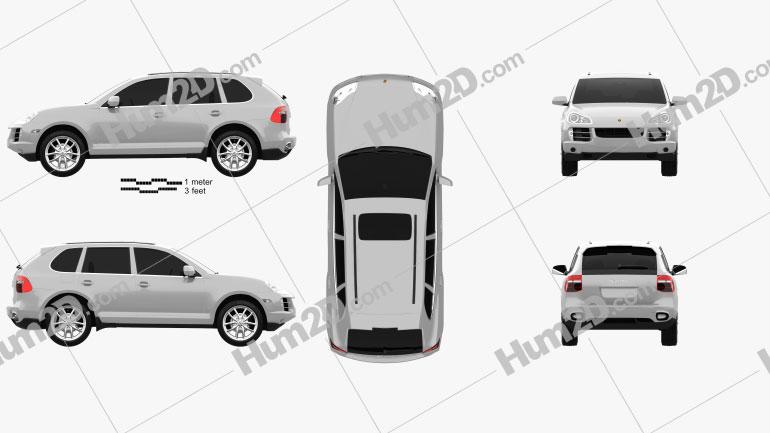 Porsche Cayenne (957) 2007 car clipart