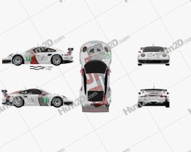Porsche 911 Carrera (991) RSR 2013 car clipart