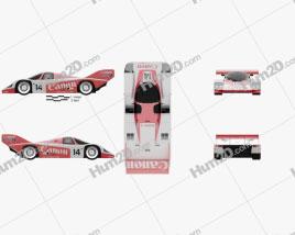 Porsche 956 C 1984 car clipart