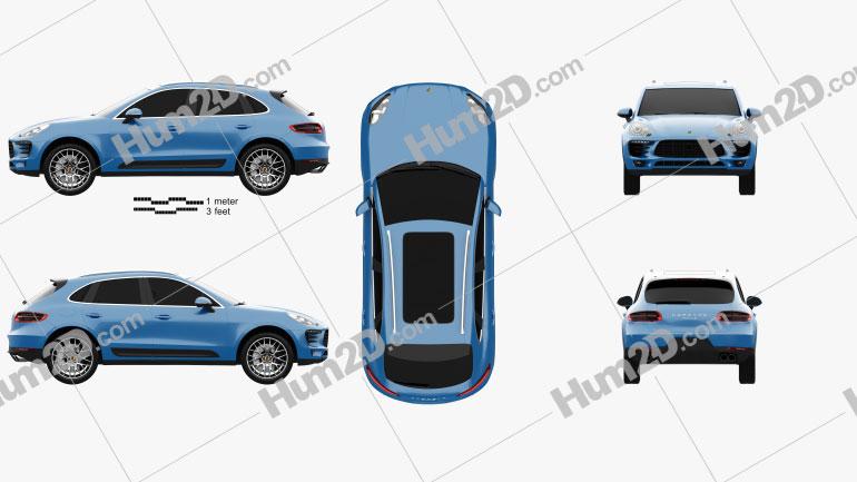Porsche Macan S 2014 car clipart