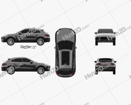 Porsche Macan Turbo 2014 car clipart