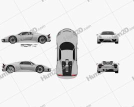 Porsche 918 Spyder 2015 car clipart